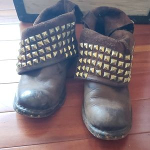 Jeffrey Campbell leather boots, studded